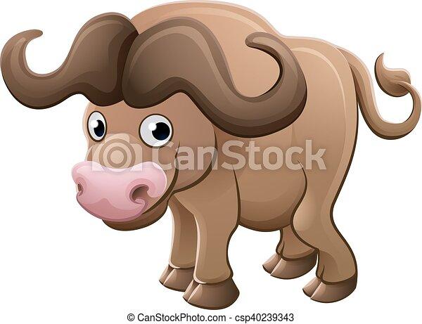 Bisonte bufalo cartone animato animale carattere - Animale cartone animato immagini gratis ...