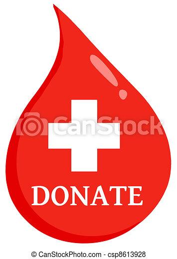 bistånd, droppe, donera, första, blod - csp8613928