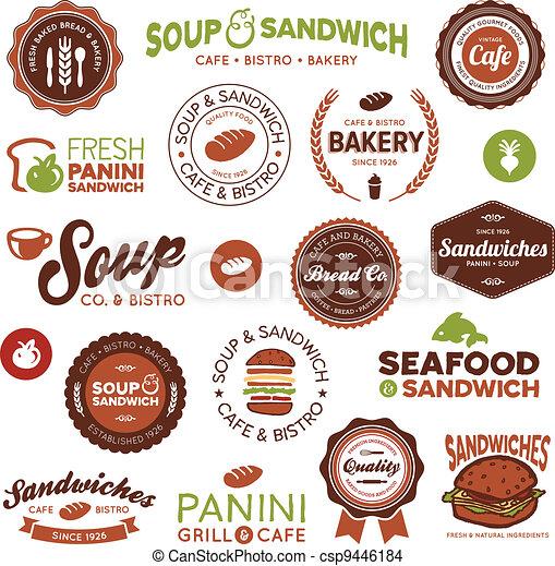 Sandwich Bistro-Labels - csp9446184