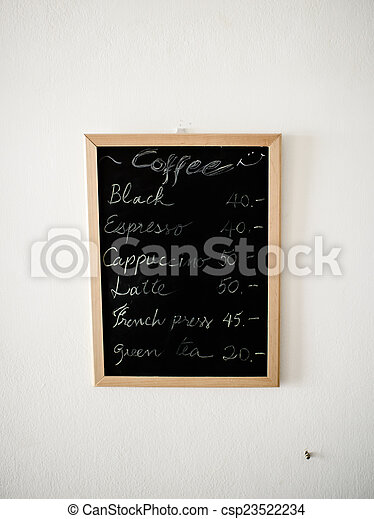 Bistro Nourriture Menu Wall Tableau Fond Cafe Ou Canstock