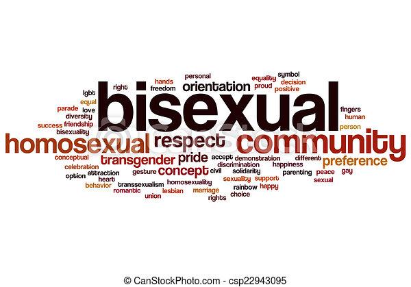 biszexuális, szó, felhő - csp22943095