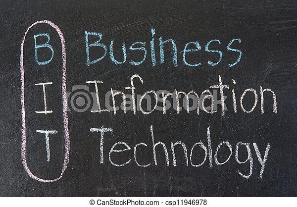 BIT acronym Business Information Technology - csp11946978