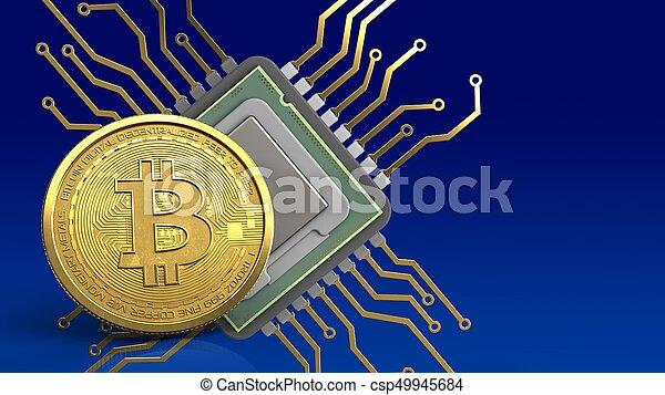 bitcoin, 3d - csp49945684