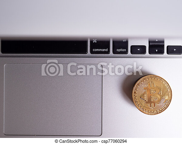Bitcoin-Cash Digital cryptocurrency on notebook - csp77060294