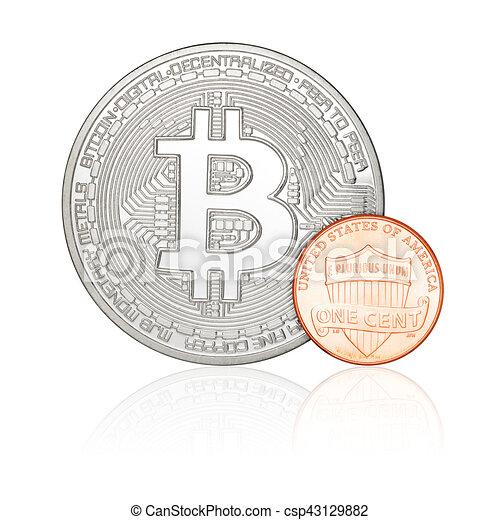 Un centavo y Bitcoin - csp43129882