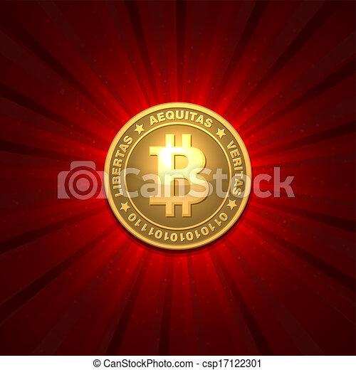 bitcoin, fond, rouges - csp17122301
