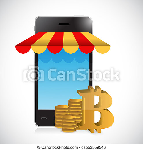 bitcoin online mobile shopping store - csp53559546