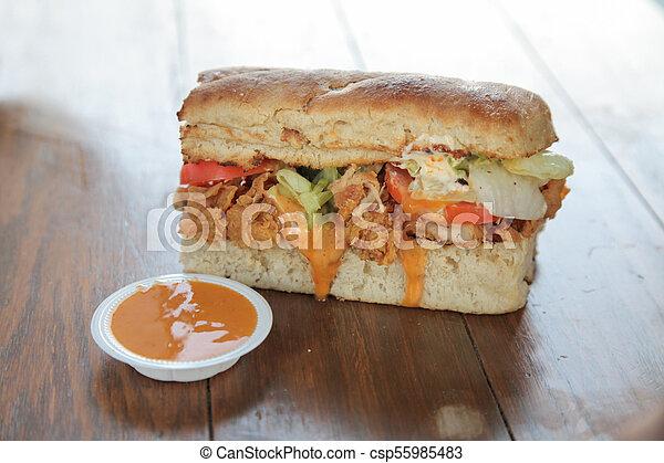 Bite size mini sandwich - csp55985483
