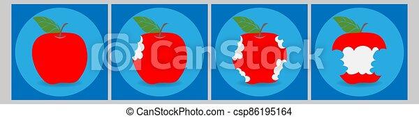 Bitten apple - csp86195164