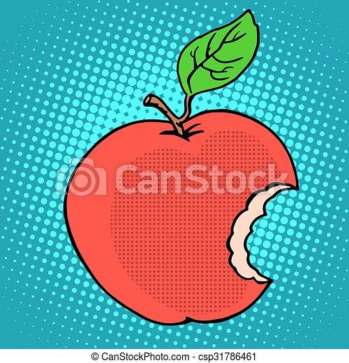 Bitten red Apple - csp31786461
