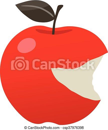 bitten red apple - csp37976398
