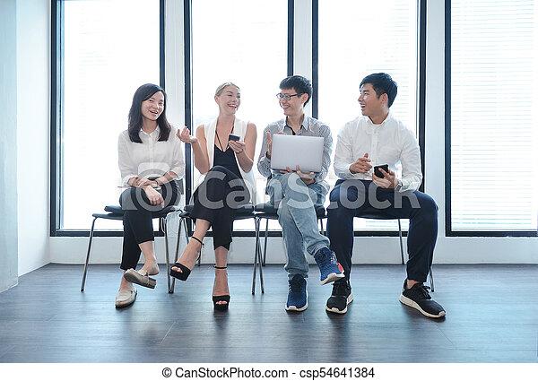 biuro, handlowy zaludniają, wpływy, inny, teamwork, każdy, międzynarodowy - csp54641384