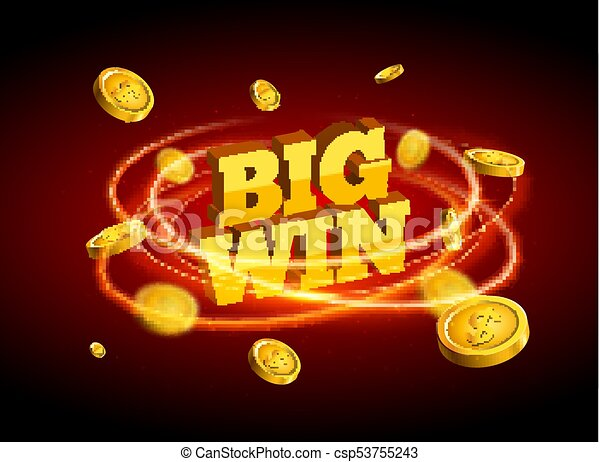 biw win gold design prize for casino jackpot luck game banner for