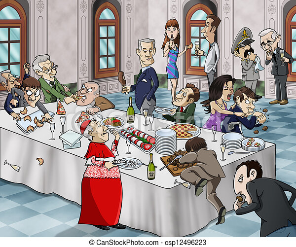 Bizarre banquet - csp12496223