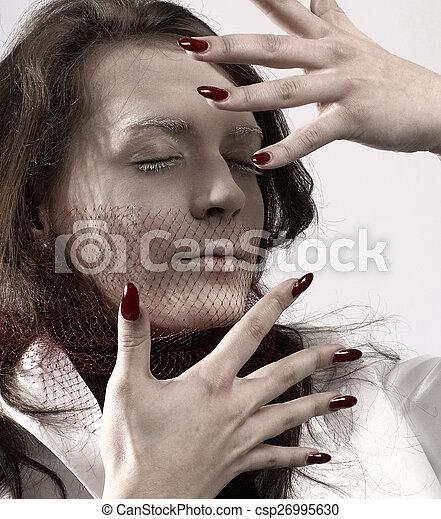 Bizarre woman - csp26995630