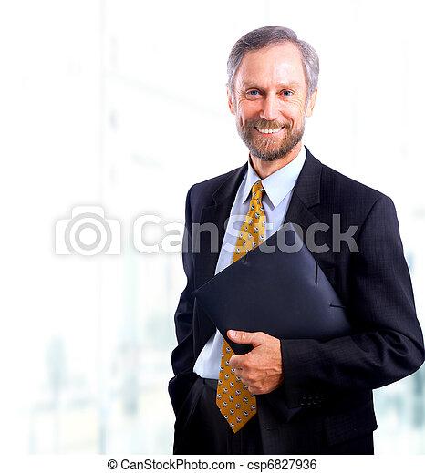 biznesmen, biały, odizolowany, bacground - csp6827936