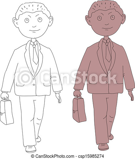 biznesmen, młody - csp15985274