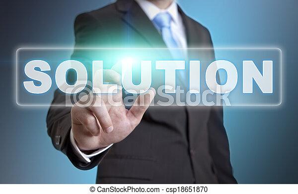 biznesmen, pojęcie, rozłączenie - csp18651870