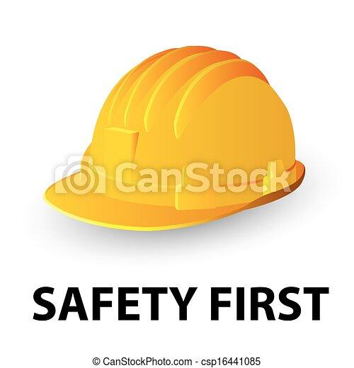 biztonság, nehéz kalap, sárga - csp16441085