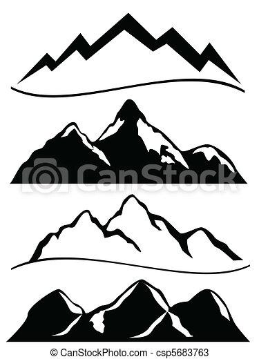 bjerge, adskillige - csp5683763