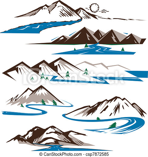 bjerge, floder - csp7872585