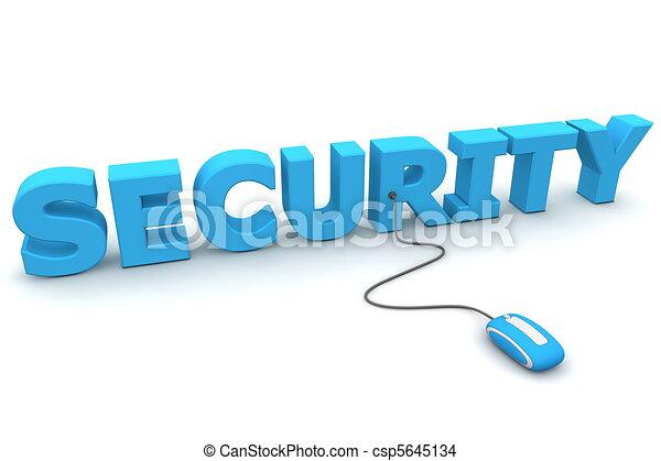 blå, browse, garanti, -, mus - csp5645134