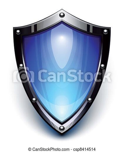 blå, garanti, skjold - csp8414514