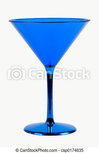 blå glas - csp0174635