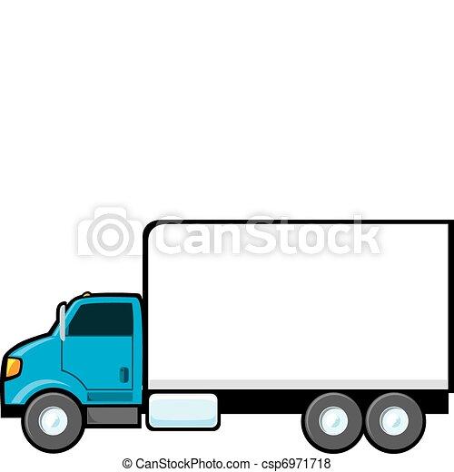 blå, leverans transportera - csp6971718