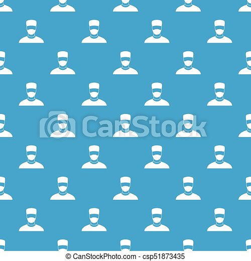 blå, mönster, seamless, läkare - csp51873435