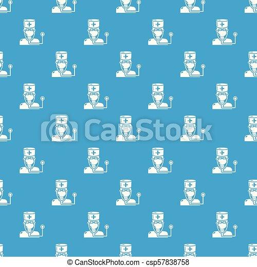 blå, mönster, vektor, seamless, läkare - csp57838758