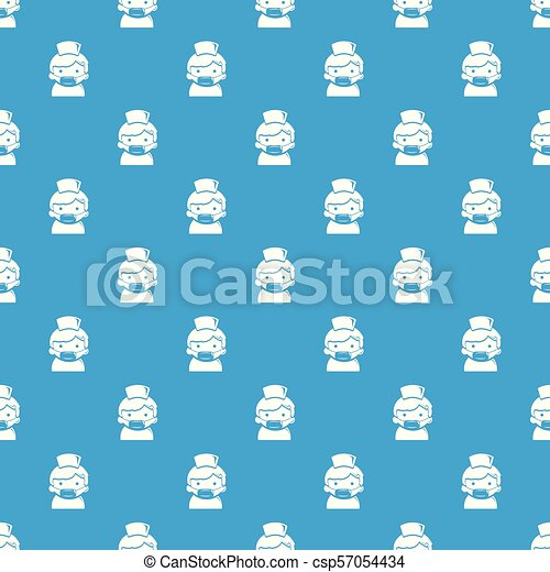 blå, mönster, vektor, seamless, läkare - csp57054434