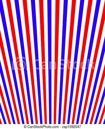 blå, vit, perspektiv, röd, stripes - csp1592047