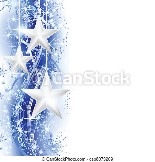 blåttstar, gräns, silver - csp8073209
