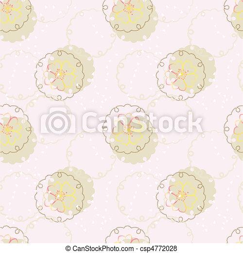 Vektorjapanes Hintergrund mit Kirschblüte - csp4772028
