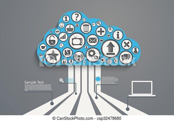bl, nuage, calculer - csp32478680