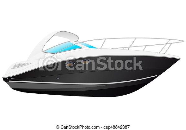 blac, nymodig, boat. - csp48842387