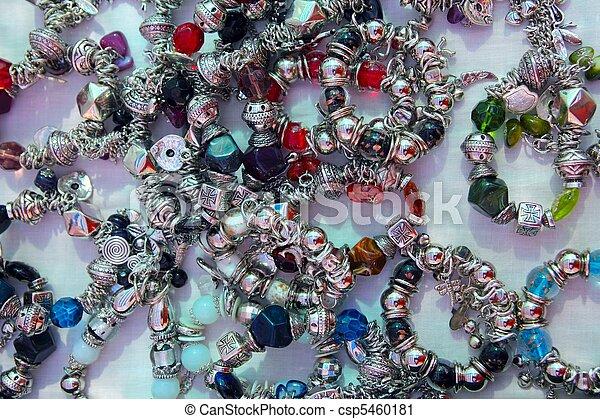 blacelets, loja, prata, jóia, exposição - csp5460181