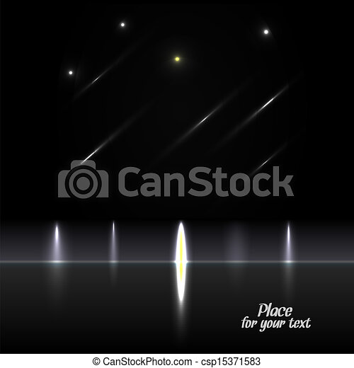 Black abstract background with glow - csp15371583