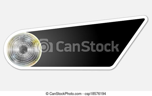 black abstract button - csp18576194