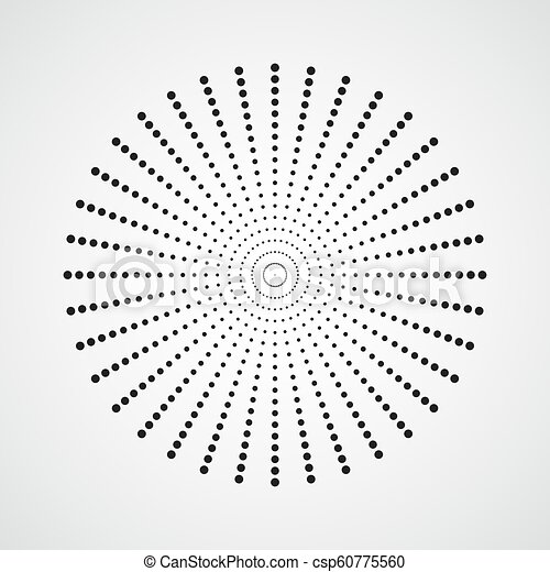 Black Abstract Circle With Halftone Dots Effect Vector Illustration