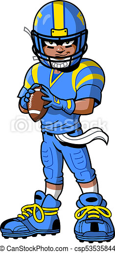 black african american football player cartoon clipart drawing rh canstockphoto com cartoon soccer player clipart cartoon football player clipart
