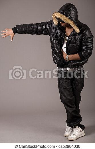 Black african rap performer - csp2984030