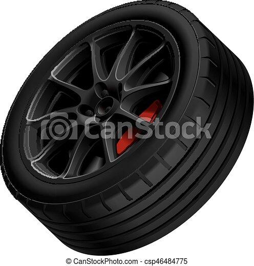 Black alloy wheel - csp46484775