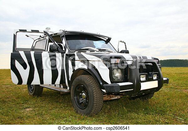 Black an white off-road car - csp2606541