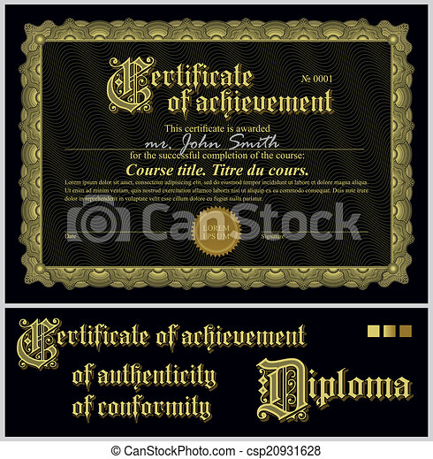 Black and gold certificate template horizontal additional black and gold certificate template horizontal vector yadclub Choice Image