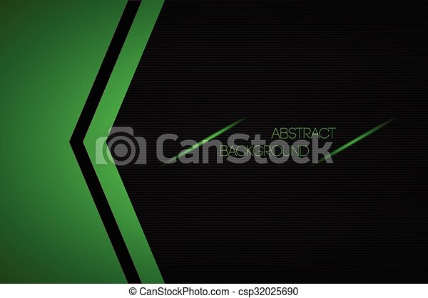Black and green abstract vector background with place for your text - csp32025690
