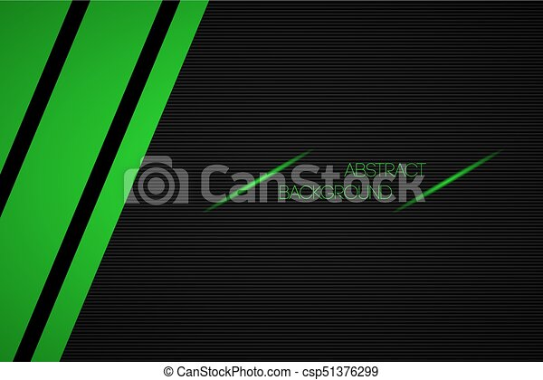 Black and green abstract vector background with place for your text - csp51376299