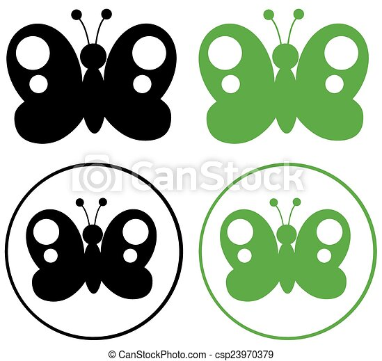 Black And Green Butterfly  - csp23970379
