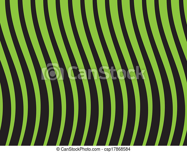 black and green striped background. Vector illustration - csp17868584